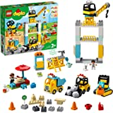 LEGO DUPLO Town 10933 Tower Crane & Construction Building Kit (123 Pieces)
