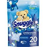 Snuggle Laundry Scent Boosters Concentrated Scent Pacs, Blue Iris Bliss, Pouch, 20 Count