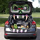 Mad Monster Face Trunk or Treat Halloween Car Decoration - Large, Scary Zombie Haunted House Home Decor & Funny Outdoor Party