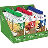 Plum Organics Mighty 4, Organic Toddler Food, Variety Pack, 4 ounce pouches (Pack of 18)(Packaging May Vary),Variety Pack 1,4