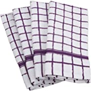 DII 100% Cotton, Machine Washable, Ultra Absorbant, Basic Everyday 16 x 26 Terry Kitchen Dish Towel, Set of 4- Eggplant Wind