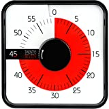 Countdown Timer 7.5 inch; 60 Minute 1 Hour Visual Timer - Classroom Teaching Tool Office Meeting, Mechanical Countdown Clock