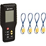 PerfectPrime TC41, 4-Channel K Type Thermocouple Thermometer Sensor, -200 to 1372°C, 20 x 4 Data Logger