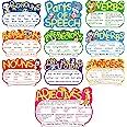 10 Pieces Parts of Speech Poster Grammar Poster Educational Grammar Cutouts Bulletin Board Set for Student Classroom School,