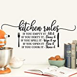 My Vinyl Story - Kitchen - Decor Kitchen Wall Decals Quote for Family Dining Room Home Decoration Art Words and Saying Sticke