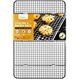 """PriorityChef Cooling Rack, 100% Commercial Grade SS304 Stainless Steel Wire Baking Rack, 11.5""""x16.5"""" Fits Half Sheet Pan, Thi"""