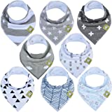 aby Bandana Drool Bibs - Bandana Bibs for Boys, Girls by KeaBabies- Super Absorbent Bandana Drool Bibs - Teething Bibs - Orga
