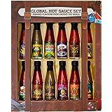 Modern Gourmet Foods, Global Hot Sauce Gift Set, 12 Inspired Hot Sauce Flavours Including Smokin Jamaican, Dragon's Breath, I