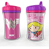 NUK Insulated Hard Spout Sippy Cup, Justice League, 9 oz, 2-Pack