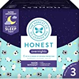The Honest Company Overnight Sleepy Sheep Diapers, Size 3 | Eco-Friendly Bio-Based Core with Sustainably Harvested and Plant-