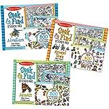 Melissa & Doug Seek & Find Sticker Pad 3-Pack, Around Town, Adventure, Animals (Each Includes 400+ Stickers, 14 Scenes to Col