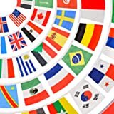 万国旗 世界 国旗 100枚セット 【 世界の国旗 100ヵ国分 の 国旗セット !(※ 国旗はランダム封入となります)】 国旗セット 世界国旗 旗 世界の国旗 運動会万国旗 国旗の旗 【 運動会 でよく見る定番の 応援グッズ 】 三角旗 日本国旗