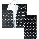 抗菌マスクケース ASOBI GOKORO PROJECT マスクファイル ドット&シャイなマスク柄 銀イオン加工 3つポケット マジックテープ付