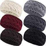 Pangda 6 Pieces Winter Headbands Women's Cable Knitted Headbands, Winter Chunky Ear Warmers Suitable for Daily Wear and Sport
