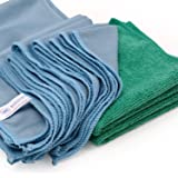 Microfiber Glass Cleaning Cloths - 8 Pack | Lint Free - Streak Free | Quickly and Easily Clean Windows & Mirrors Without Chem