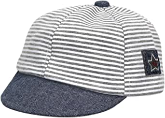 (コ-ランド) Co-land キッズ帽子 野球帽 ベースボールキャップ 子供用 ベビーハット 赤ちゃんキャップ ボーダー 星 女の子 男の子 お出かけ UVカット