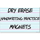 """Magnetic Dry Erase Writing Practice Whiteboard Sheet by AgilePacks 17"""" x 11"""" for Classrooms, Teachers, Fridge, Home Plus Magn"""