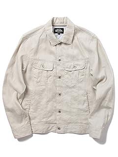 Linen Jean Jacket 11-18-2676-187: Natural