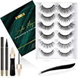Invisible Magnetic Eyelashes Lanciley Fake Eyelashes 3D Natural False Lashes, Best for Daily Dating Party Christmas with 6 Pa