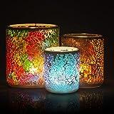 Rancco Mosaic Tealight Candle Holder Set