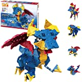 LaQ Mystical Beast Dragon - 5 Models, 260 Pieces | Fun Dragon Toy | Japanese Building & Construction Toys | STEM Toys for Age