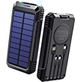 40800mAh & Qiワイヤレス充電 & PD18W対応 ソーラーモバイルバッテリー 大容量 ソーラーチャージャー 急速充電 SCP22.5W対応 PD18W入出力兼用Type-Cポート ソーラー充電器 USB-A+Micro USB+Type-