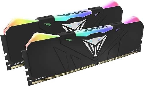 Patriot Viper Gaming デスクトップ用RGBシリーズDDR4 DRAM 3200MHz 16GB (2x8GB)キット - ブラック