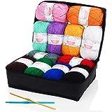 アクリル糸 - SOLEDÌ12色* 50 g美しく包まれた、1200メートル滑らかな柔らかい綿2かぎ針編みスタイルハンドニット