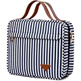 Hanging Travel Toiletry Bag,Large Capacity Cosmetic Travel Toiletry Organizer for Women with 4 Compartments & 1 Sturdy Hook,P