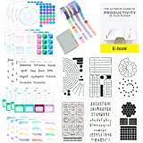 Ultimate Productivity Journal Supplies Kit - 31 Piece Set, Custom-Designed Supplies for Bullet Journals, Includes Stickers, S