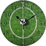 サッカー 掛け時計 置き時計 おしゃれ 北欧 油絵の効果 壁掛け 連続秒針 リビング 部屋装飾 贈り物