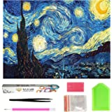 Full Drill 5D Diamond Painting 50cm X 41cm, OWAY Paint by Number Kits Starry Night Diamond Painting Kits for Home Wall Decor