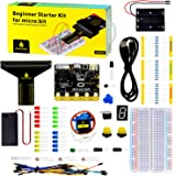 KEYESTUDIO BBC Micro:bit Starter Kit Breadboard Coding Kit with Microbit V1 Board, Compatible with Microbit V2(not contained)