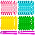 Ensbelei 28 Pcs Hair Curlers Styling Kit Hair Curlers Magic Hair Roller Heatless Wave Style with 2 Pieces Styling Hooks for E