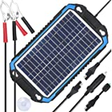 SUNER POWER 12V Solar Car Battery Charger & Maintainer - Portable 6W Solar Panel Trickle Charging Kit for Automotive, Motorcy