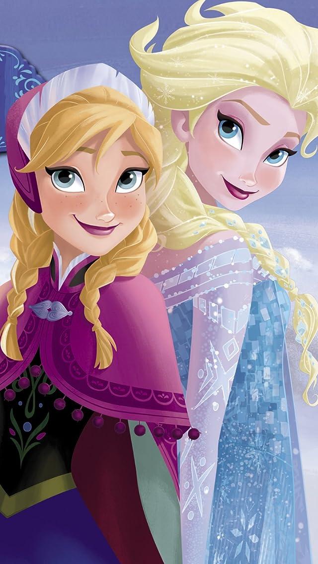 ディズニー 『アナと雪の女王』アナ,エルサ iPhoneSE/5s/5c/5(640×1136)壁紙 画像40608 スマポ