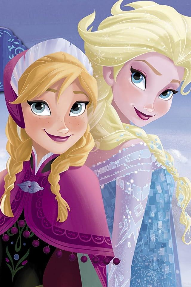 ディズニー 『アナと雪の女王』アナ,エルサ iPhone(640×960)壁紙 画像41700 スマポ