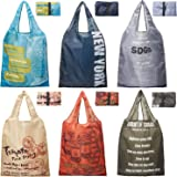 【AOTOBAG】TVで話題の洗える エコバッグ マチ付き 折り畳み 6個 セット 22L 大容量 軽量 コンパクト 買い物バッグ ランチバッグ
