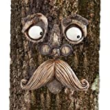 Bits and Pieces-Old Man Tree Hugger - Garden Peeker Yard Art - Outdoor Tree Hugger Sculpture Whimsical Tree Face Garden Decor