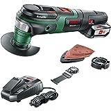 Bosch Cordless Oscillating Multi Tool AdvancedMulti 18 (1 Battery, 18 Volt System, 2.5 Ah, 2 x Blades, Sanding Set and Depth