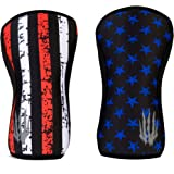 Bear KompleX Reversible Knee Sleeves (Pair of 2) Compression & Support for Weightlifting & Powerlifting Neoprene Sleeve