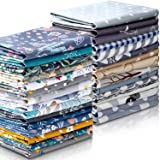 30 Pieces 10 x 10 Inches Cotton Fabric Printed Bundle Squares Floral Fabric Patchwork Sewing Quilting Bundles Assorted Patter