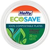 Hefty ECOSAVE Compostable Plates, 8-3/4 Inch, 22 Count