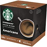 Starbucks House Blend by NESCAFÉ Dolce Gusto Medium Roast Coffee Pods, Box of 12 Capsules, 102g (12 Serves)