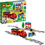 LEGO DUPLO Steam Train 10874 Remote-Control Building Blocks Set Helps Toddlers Learn, Great Educational Birthday Gift (59 Pie