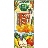 カゴメ 野菜生活100 有田みかんミックス 195ml ×24本