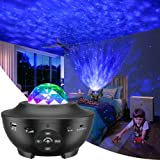 LBell Night Light Projector, 2 in 1 Ocean Wave Projector Star Projector w/LED Nebula Cloud for Baby Kids Bedroom/Game Rooms/H