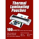 """Halcent 4""""x6"""" Thermal Laminating Pouches, 3 mil Thermal Laminator Pouches Sheets for Sealed Photo Card Documents, Glossy Lami"""