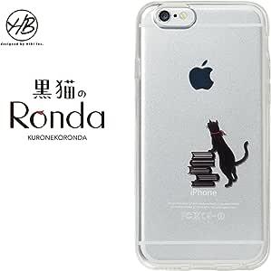 &y HB 【iPhone6s / iPhone6 両対応】 4.7インチ ソフトTPUケース キャラクター ネコ IMD光沢印刷 黒猫のRonda(ロンダ) C クリア