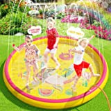"""(68"""") Inflatable Sprinkler Splash Pad for Kids Toddlers Dogs, Kiddie Baby Pool, Outdoor Water Play Mat Toys - Baby Infant Wad"""